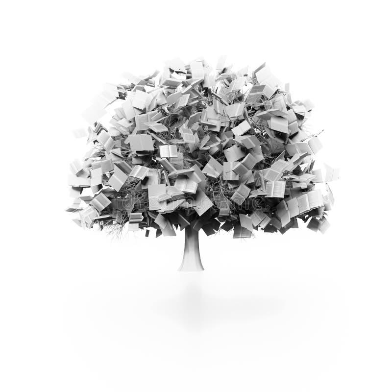 Drzewo książki ilustracji
