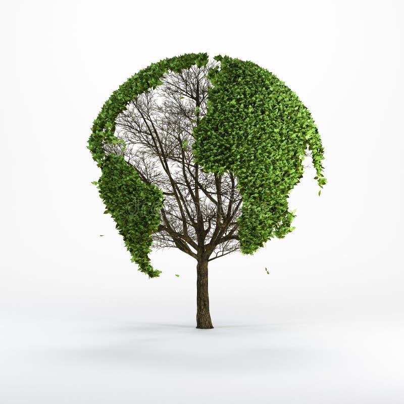 Drzewo kształtował jak światowa mapa ilustracja wektor