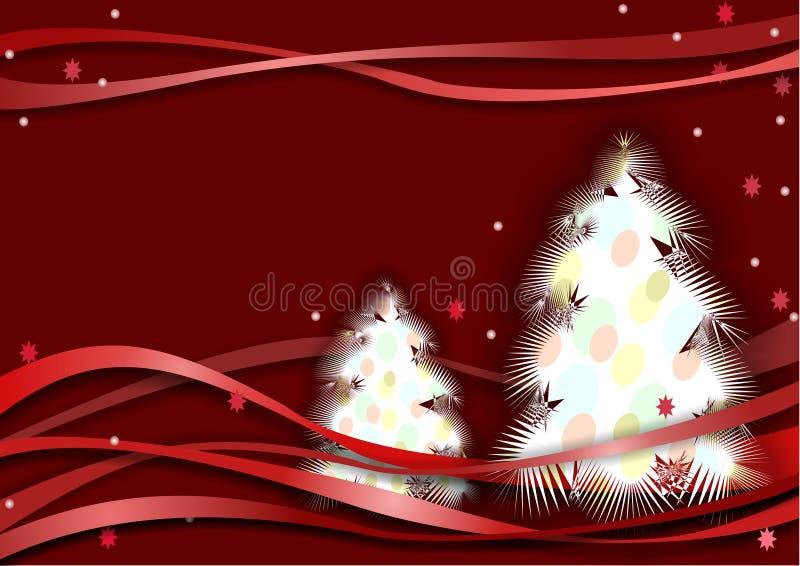 drzewo nowy rok ilustracja wektor