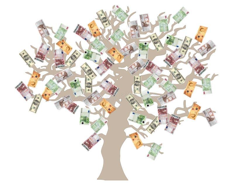 drzewo pieniądze ilustracja wektor