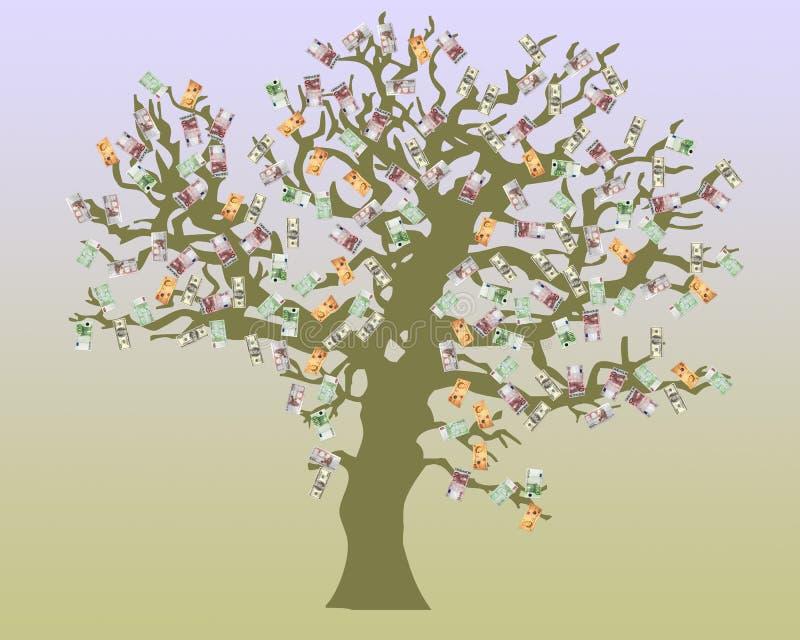 drzewo pieniądze ilustracji