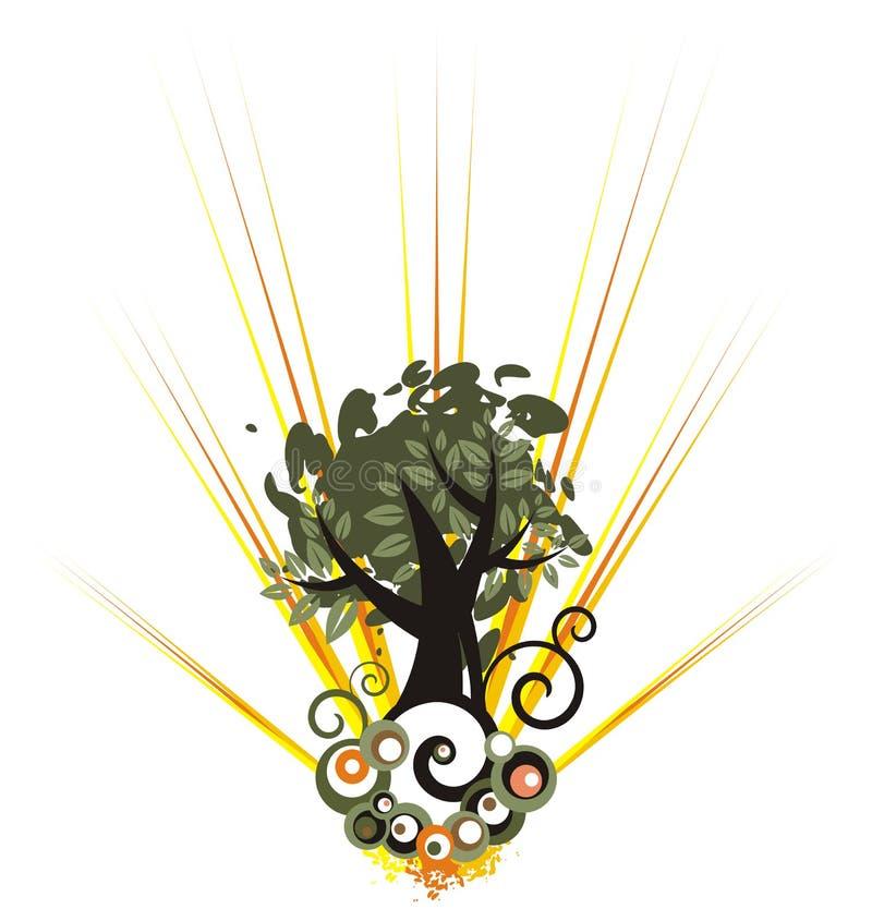 drzewo tła royalty ilustracja