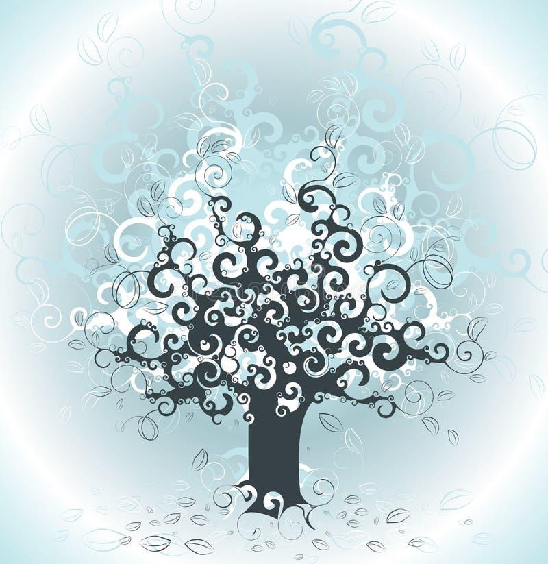 drzewo tła abstrakcyjne ilustracji