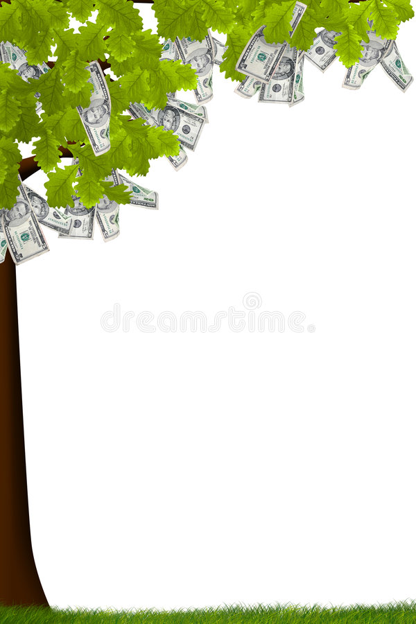 drzewo w gotówce, ilustracja wektor