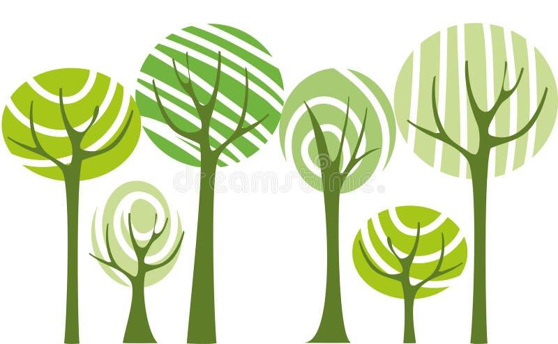 Drzewo Wektor Obraz Stock