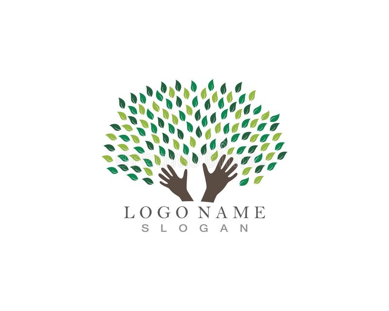 Drzewo wręcza loga ilustracji