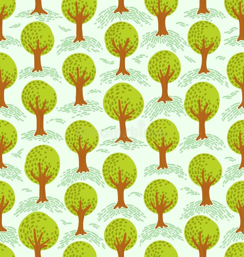 Drzewo wzór ilustracja wektor