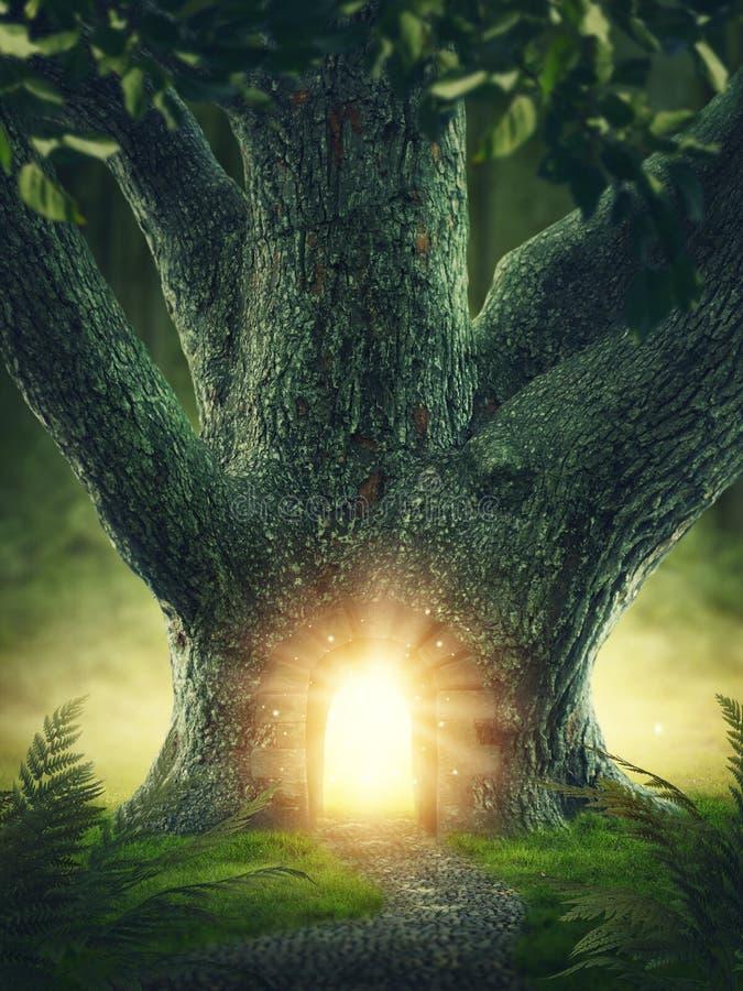 Drzewo z bramą zdjęcie stock