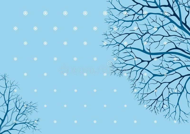 drzewo zima ilustracji