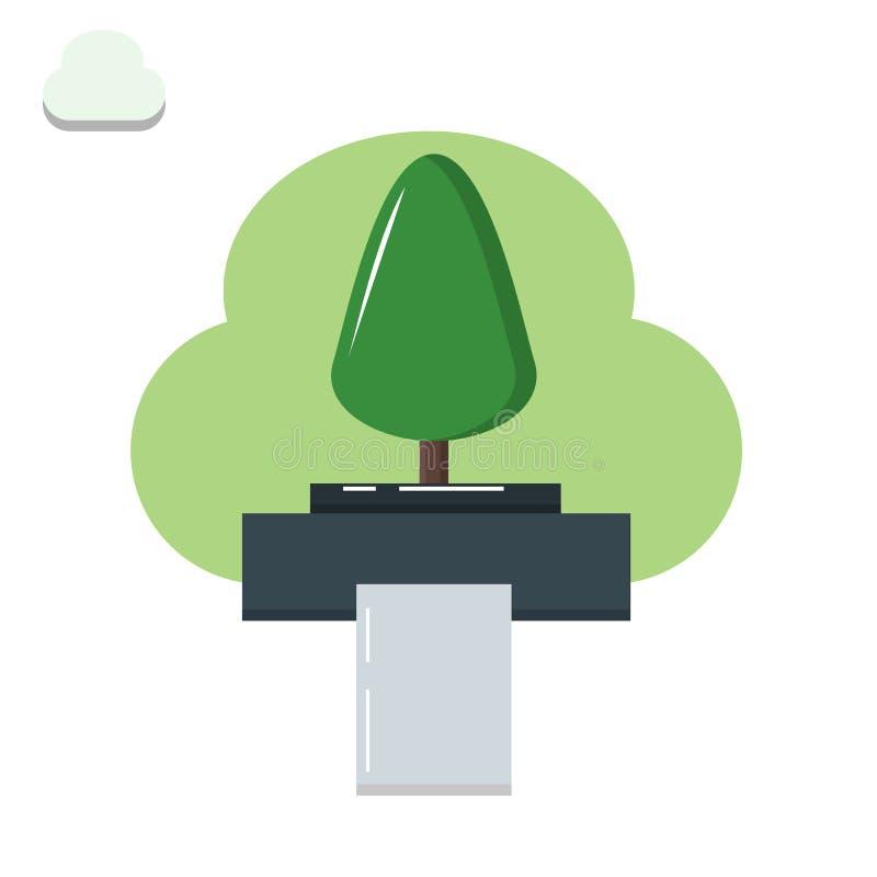 Drzewo zostać papierem, drzewo, drukarka, papier, środowiskowa degradacja royalty ilustracja