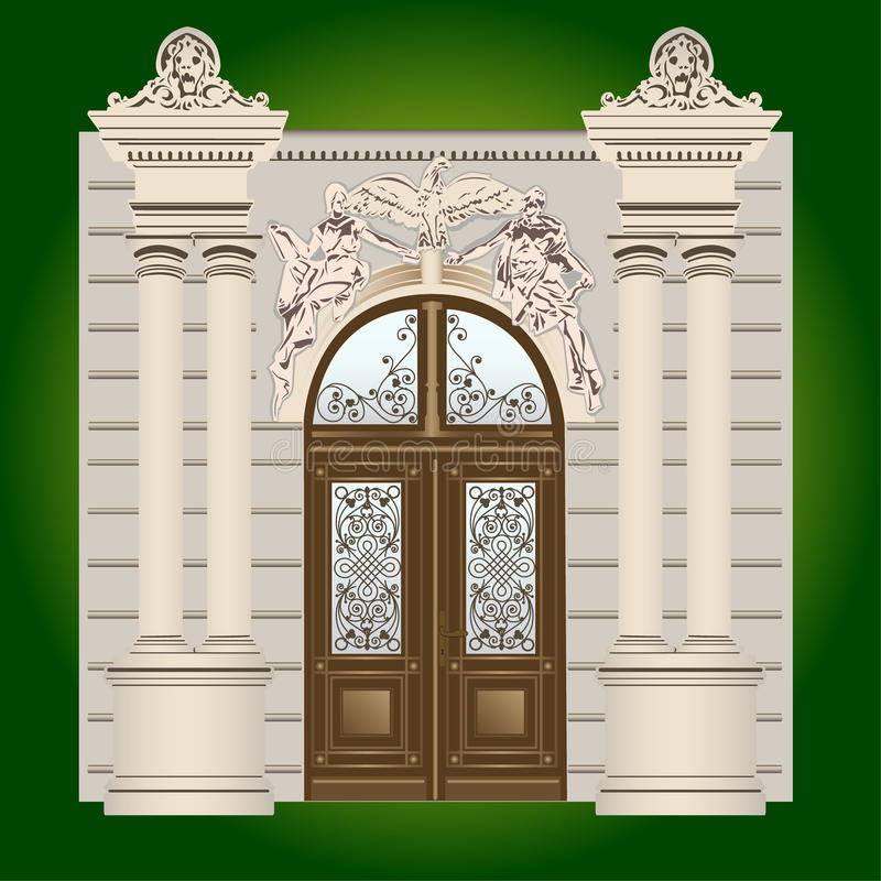 Drzwi ilustracja wektor