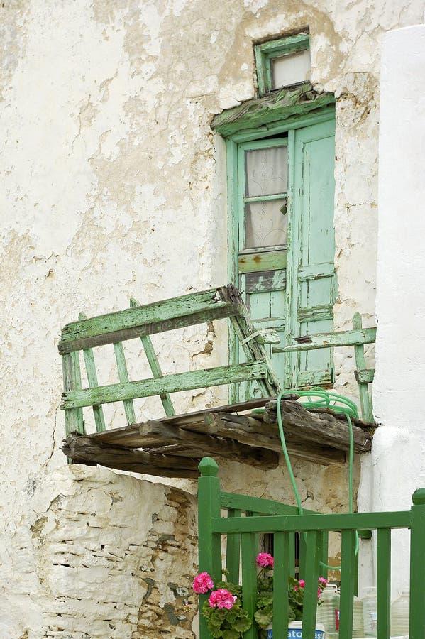 drzwi balkonowy stary zdjęcia royalty free