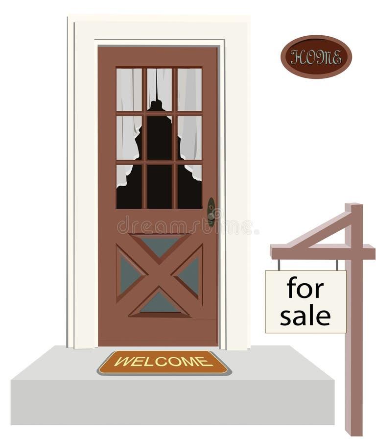 drzwi do domu royalty ilustracja