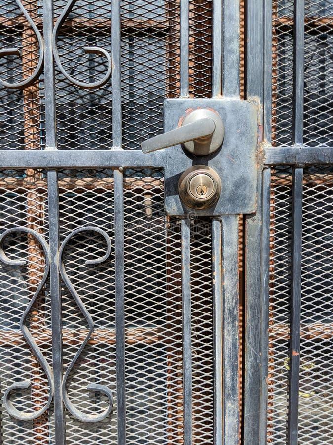 drzwi dokonany żelazny obrazy royalty free