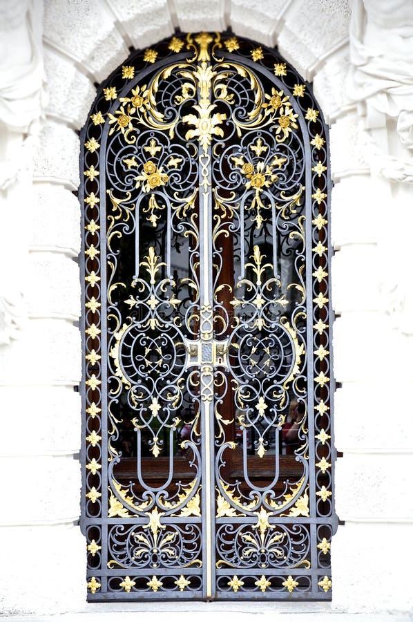 drzwi dokonany żelazny obraz stock