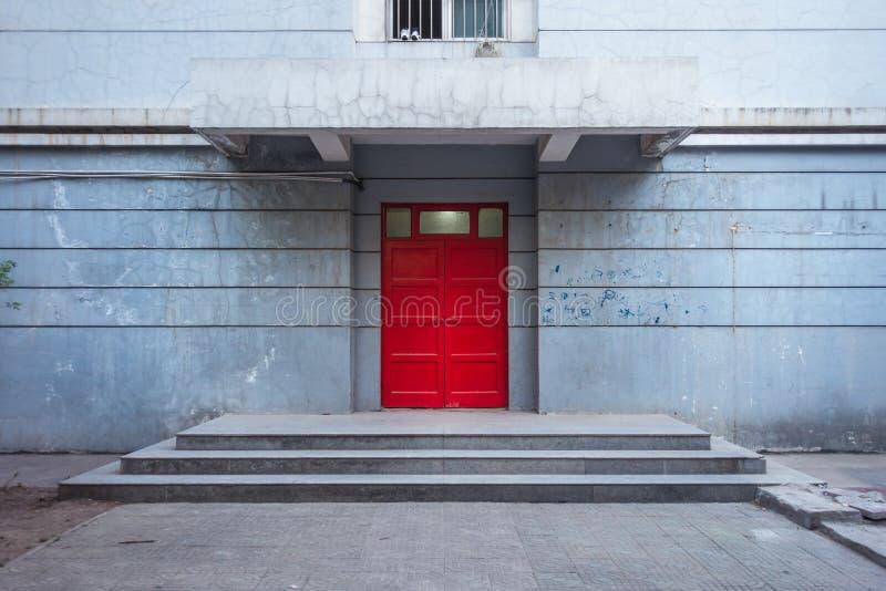 Drzwi dormitorium w XI. 'politechnika Qu Jiang fotografia stock