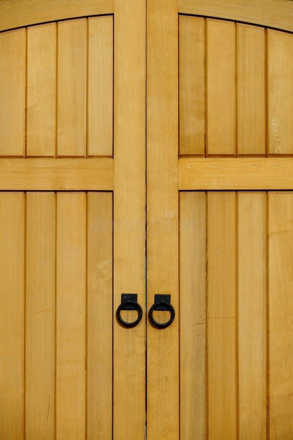 drzwi drewniani zdjęcie stock