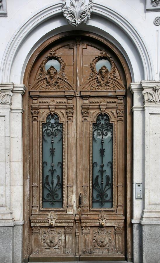 drzwi drewniany obraz stock