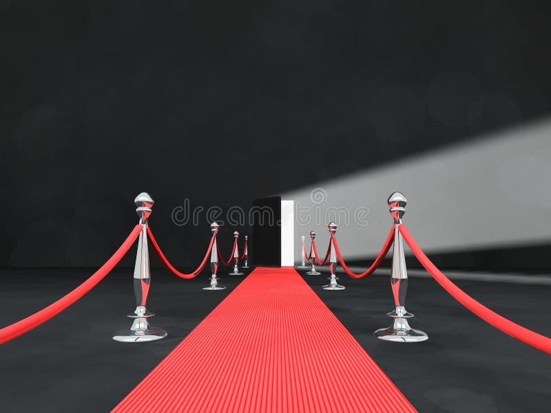 drzwi dywanowego otwarta czerwony royalty ilustracja