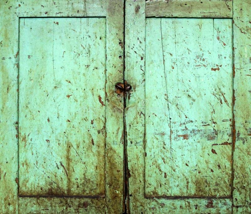 drzwi gabinetowy grunge fotografia stock