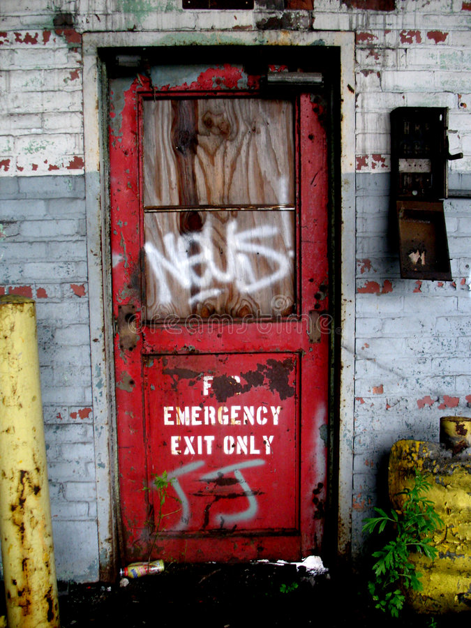 drzwi graffiti pionowe zdjęcie royalty free