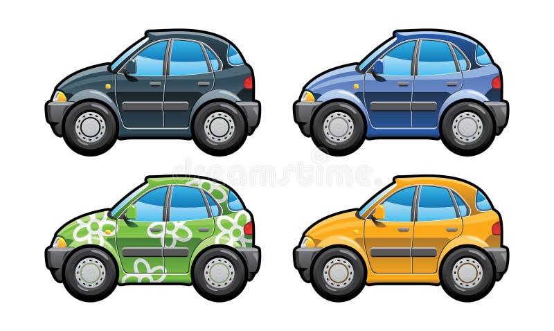 drzwi hatchback pięć ilustracji