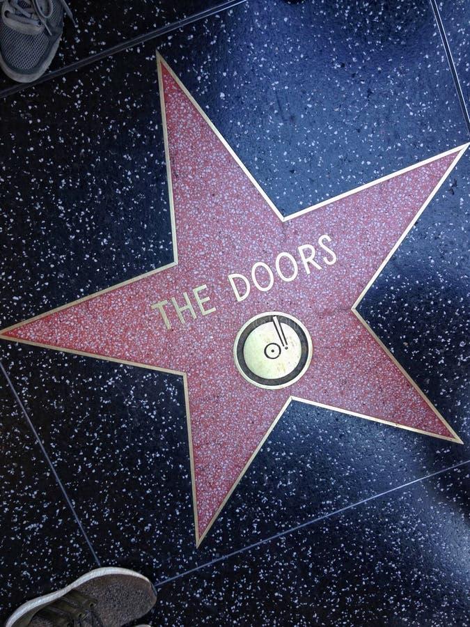 Drzwi Hollywood spacer sławy gwiazda obraz stock