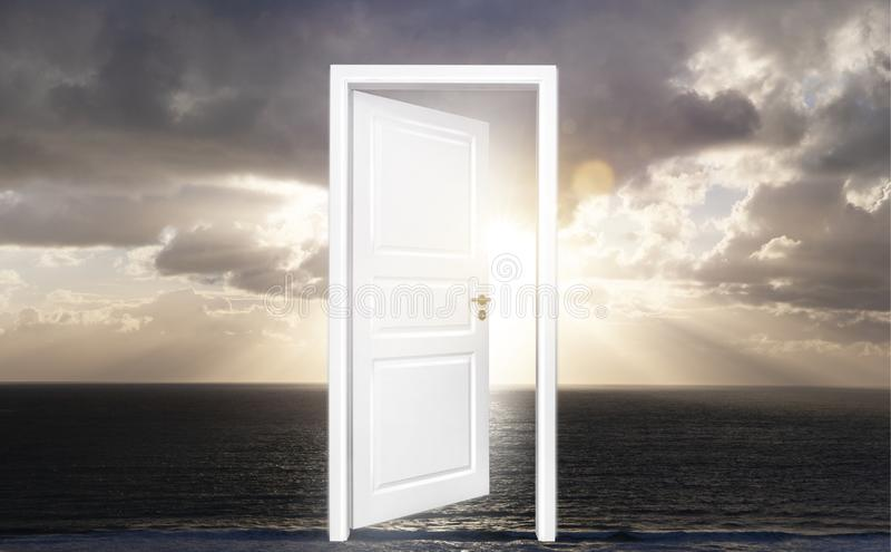 Drzwi horyzont fotografia stock