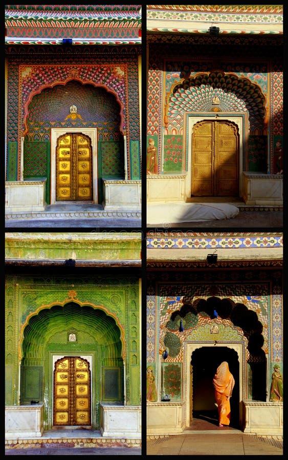 drzwi Jaipur cztery sezonu zdjęcie royalty free