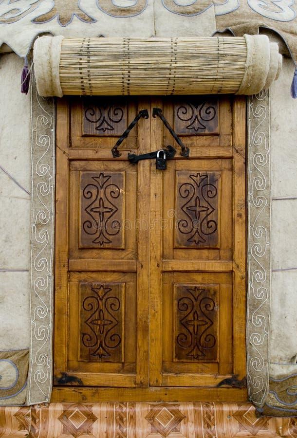 drzwi jurta obraz stock
