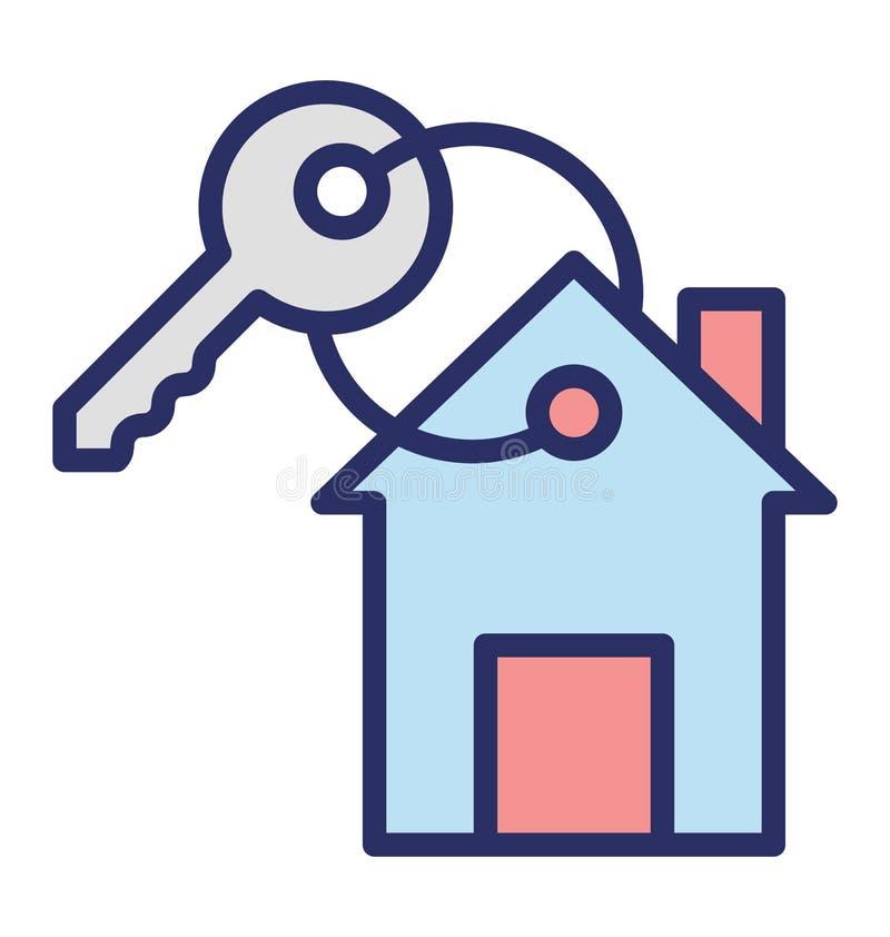 Drzwi klucz Odizolowywał Wektorową ikonę która może łatwo redagować lub modyfikować ilustracji