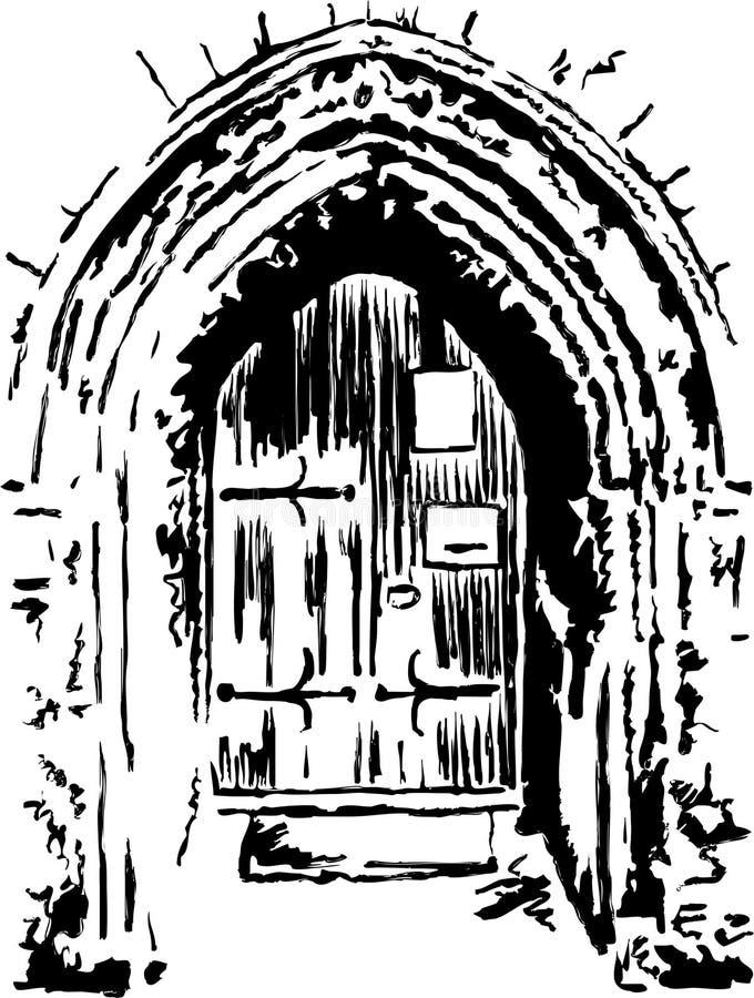 drzwi kościoła royalty ilustracja