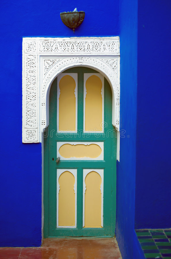 drzwi majorelle zdjęcia stock