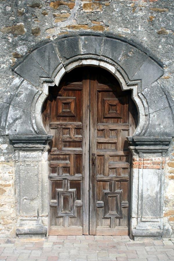 Drzwi misja Espada obraz stock