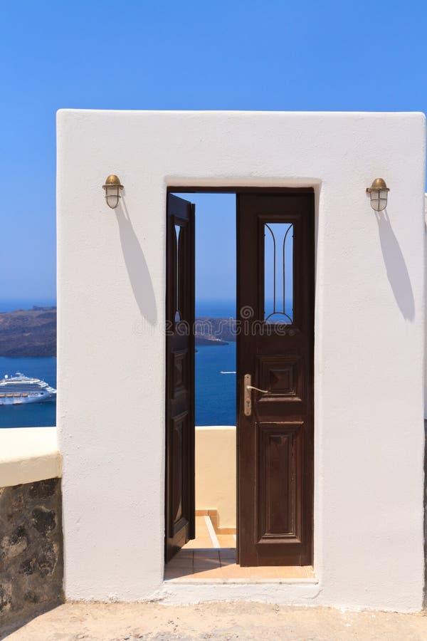 Drzwi morze śródziemnomorskie fotografia royalty free