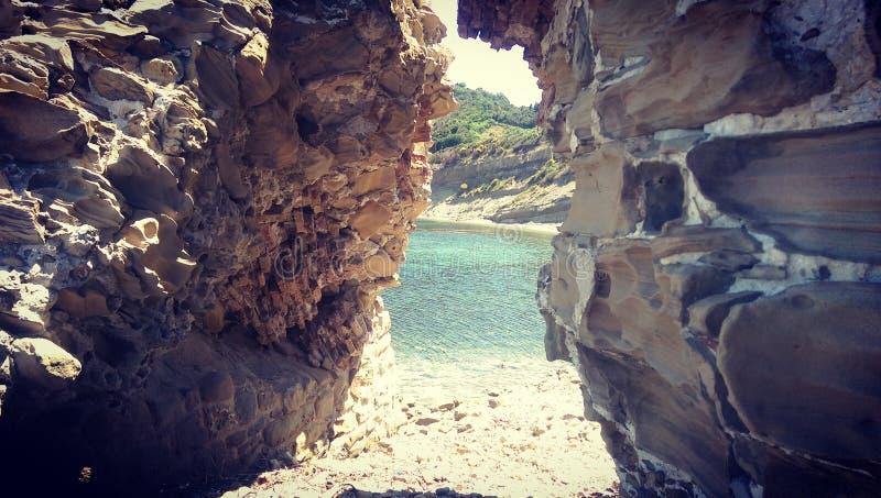 Drzwi morze obraz stock