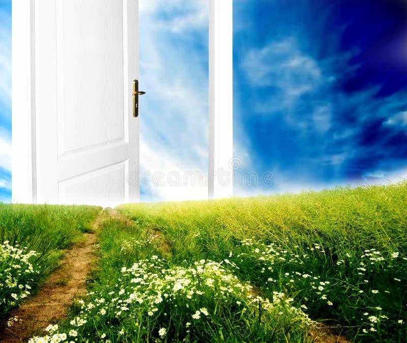 drzwi nowy świat. obrazy stock