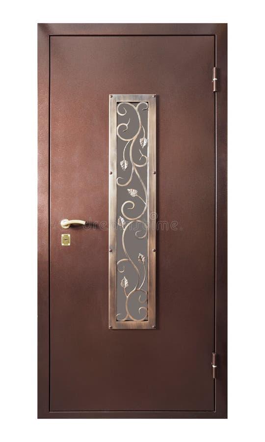 Drzwi odizolowywający na bielu obrazy stock