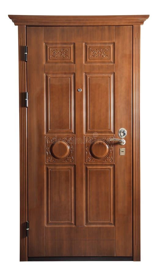 Drzwi odizolowywający na bielu fotografia stock