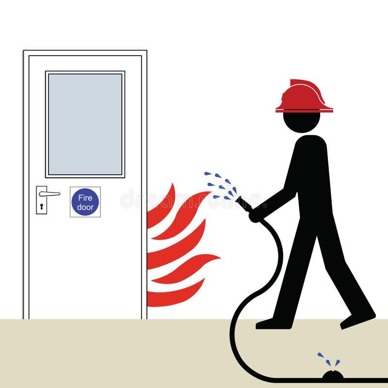 drzwi ogień royalty ilustracja