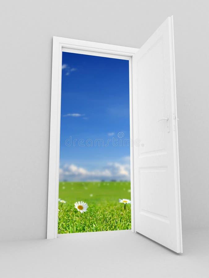 drzwi otwarty royalty ilustracja