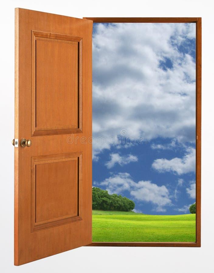 drzwi otwarty obraz stock