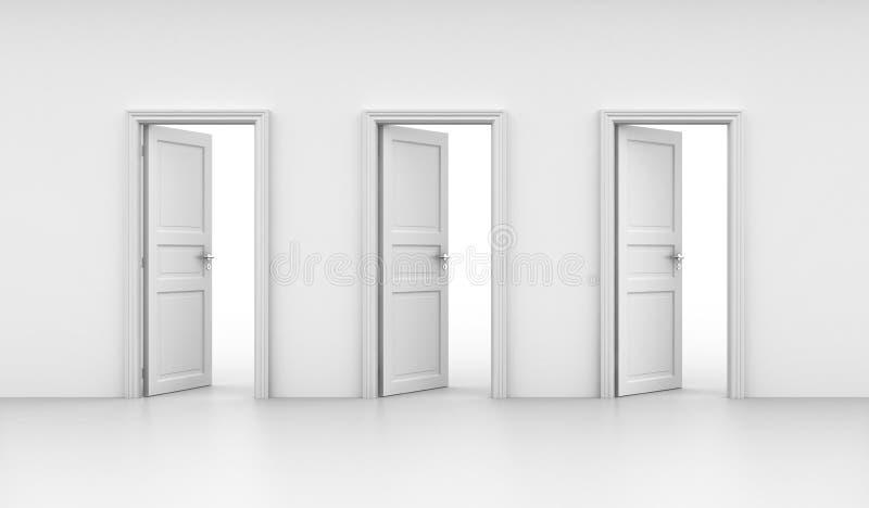drzwi otwierają trzy royalty ilustracja