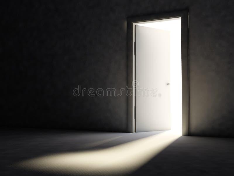 drzwi otwierający ilustracji