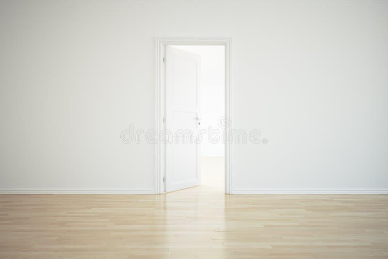 drzwi pokój pusty otwarty royalty ilustracja