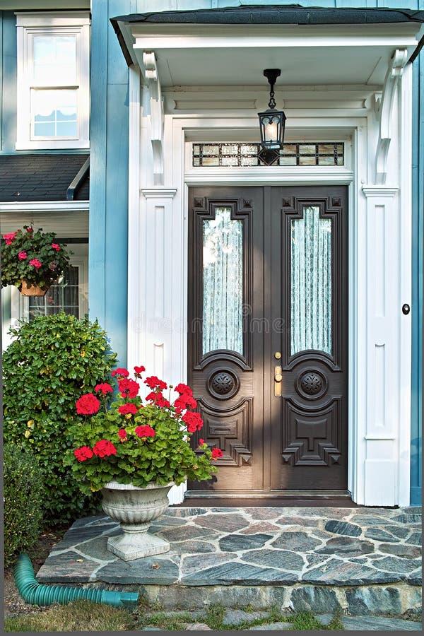 drzwi przodu dom fotografia royalty free