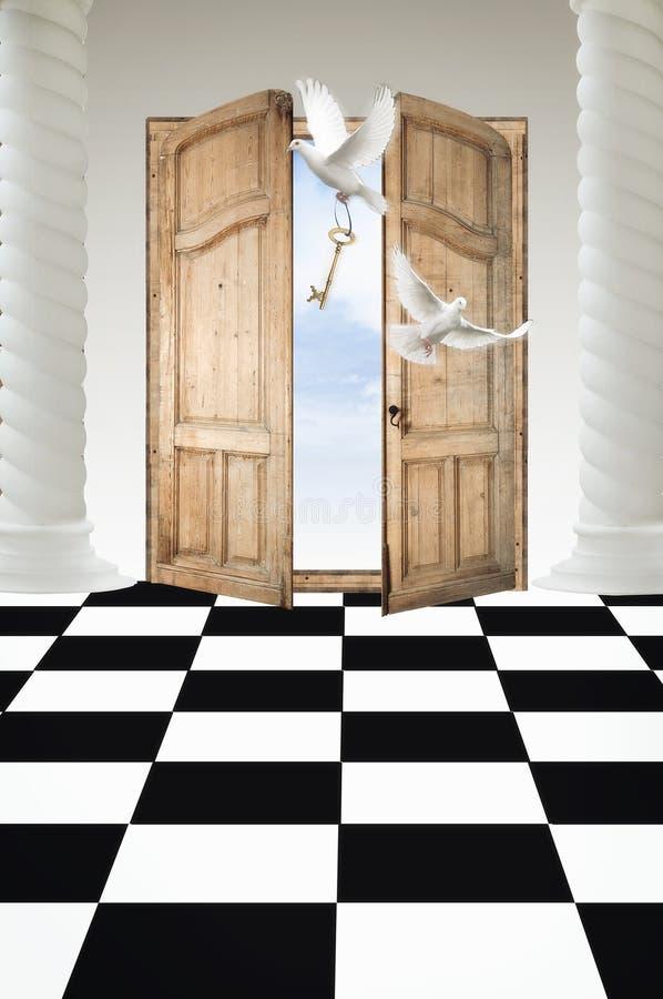 drzwi raj royalty ilustracja