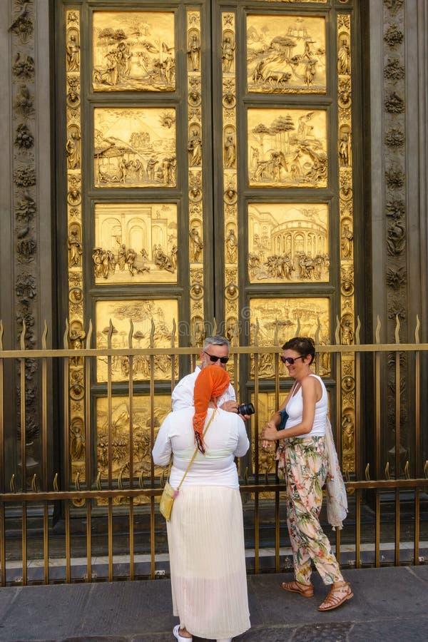 Drzwi raj w Florencja obraz royalty free