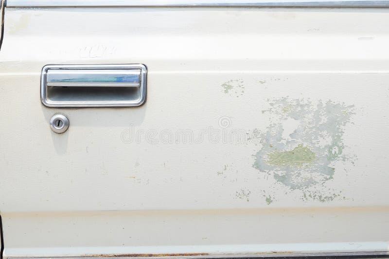 Drzwi rocznika samochód fotografia stock