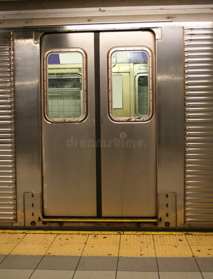 drzwi samochodowe nowy York metra fotografia stock